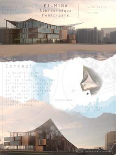 Architecture - Presentation board Municipal library