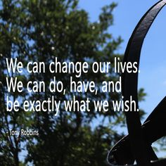 We can change our lives. We can do, have, and be exactly what we wish. - Tony Robbins quote