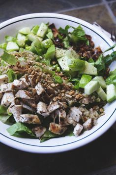 Chicken Apple and Bacon Salad