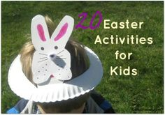 This post contains 20 crafts, snack, and learning activities with rabbit or Easter themes. #easter #easterkids #learning #crafts