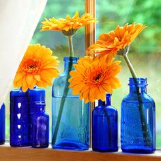 Boys' bathroom to add color Housewife Eclectic: Simple Ideas to Decorate Your Home with Flowers
