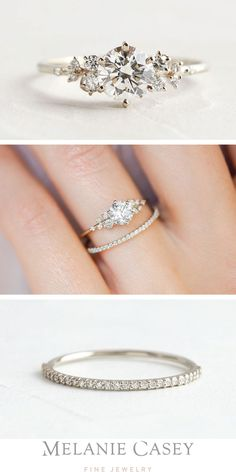 Pretty Engagement Rings, Rose Gold Engagement Ring, Engagement Ring Settings, Vintage Engagement Rings, Diamond Wedding Bands, Pretty Wedding Rings, Different Engagement Rings, Petite Engagement Ring, His And Her Wedding Rings