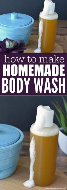 Learn how to make homemade body wash. This all natural body wash is so easy to make and honey body wash is so moisturizing. Try homemade body wash today!