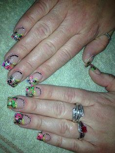 Color acrylic nail design