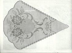 - Just DIY Filet Crochet, Crochet Doily Diagram, Crochet Edging Patterns, Crochet Doily Patterns, Crochet Round, Crochet Doilies, Crochet Lace, Mantel Redondo A Crochet, Crochet Home Decor