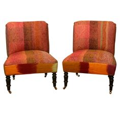 Touch of Orange Upholstered Chairs