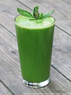 Thai Tonic Green Juice Smoothie ( cucumber, celery, fresh basil, cilantro, green onions (omit if desired), lemongrass,  lime, fresh ginger)