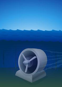 Les hydroliennes permettent de transformer la force et la vitesse des courants marins et des marées en électricité. Comment fonctionnent-elle... Transformers, Faucet, Kitchen, Blog, Ideas, Underwater, Sailors, Cooking, Cucina