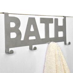 Patère à suspendre Bath Argent