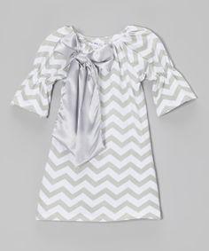 Gray Zigzag Swing Dress -