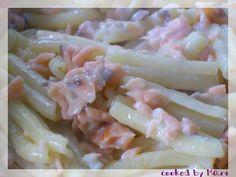 Caserecce con salmone e gorgonzola