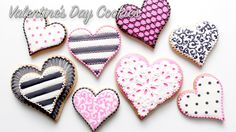 How To Decorate Valentine's Day Cookies - YouTube
