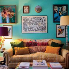 Florence Welch's Rich, Jewel-Toned Living Room - The Accent™