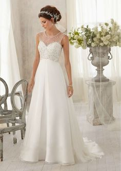 Discount High Coral A-Line Floor Length Beaded Chiffon 2015 Trumpet/Mermaid Wedding Dress For Pregnant Women Free Measurement