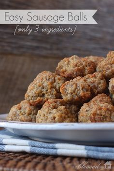 Easy Sausage Balls... gotta make these for the holidays! And try not to eat half of them...