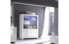 Commode contemporaine blanche laquée - Meuble moderne blanc laqué - Meuble et Canapé.com