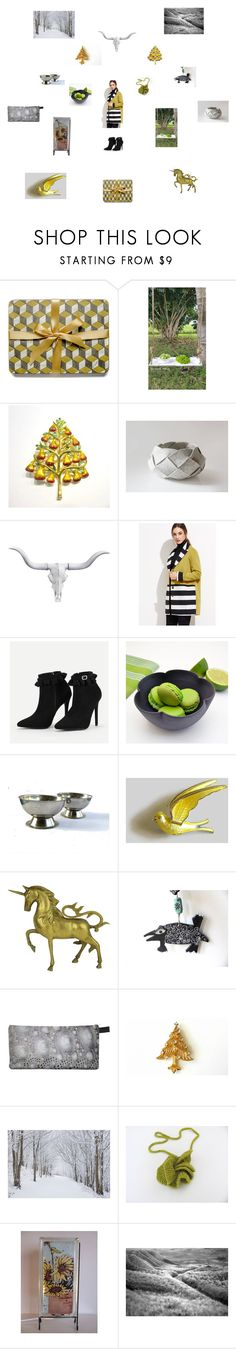 Grey gold black by einder on Polyvore featuring interior, interiors, interior design, home, home decor, interior decorating, Christopher Radko, rustic and vintage