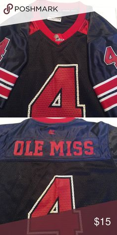 Ole Miss Jersey Like new...Only worn one time! Shirts