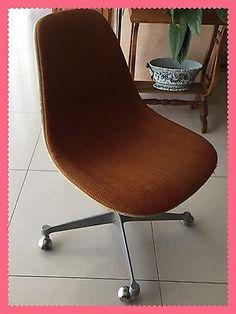 Chaise-Fauteuil-Bureau-Herman-Miller-Vintage-Orange-Annees-70-Design-Knoll