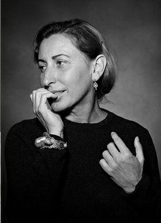 Miuccia Prada, fashion designer. The breadth of Pradas designs  from the nylon handbags in the mid-80s that made her famous to Spring 2012s critically acclaimed fifties - inspired collection  is truly inspiring. Suffice to say she will remain an iconic designer for decades to come.