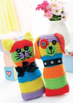Crochet cat and dog toys. Signed uo to site okay, would not sign me up for advertised newsletter.