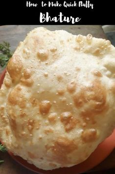 Chole Bhatura is a popular north Indian food. This is an authentic Punjabi Cuisine. Learn how to make fluffy bhatura quickly w/o fermentation Holi Recipes, Indian Food Recipes, Vegetarian Recipes, Cooking Recipes, Bhatura Recipe, Dosa Recipe, Paratha Recipes, Quick And Easy Appetizers, Tea Time Snacks