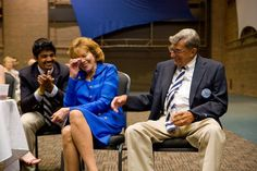 """Regional Director of Volunteer Services, Charlene Gaus, shared the following picture and one of her favorite memories of Joe Paterno. The picture is from July 2008 and was taken in South Bend, IN at an alumni reception prior to Coach Paterno's College Football Hall of Fame Enshrinement Dinner. Executive Director of the Alumni Association, Roger Williams, was on stage introducing JoePa. He started with """"It is my pleasure to introduce to you the hardest working coach in college football"""" at…"""