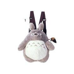 My Neighbor Totoro Large Totoro Backpack (Gray) ($83) ❤ liked on Polyvore featuring bags, backpacks, grey backpack, rucksack bags, grey bag, gray bag and day pack backpack