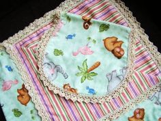 Free Crochet Pattern - Baby Blanket Edging. Great idea to fix up for a baby gift or doll blankets.