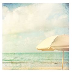 Photography Print Summer Beach Coastal by cottagelightstudio Umbrella Photography, Beach Photography, Fine Art Photography, Art Plage, Beach Interior Design, Summer Beach, Seaside Beach, Summer Set, Cottage