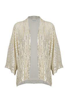 Summer Sequins Kimono, Gold/Silver