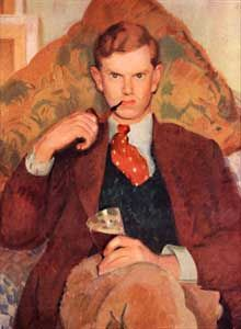 Evelyn Waugh, aged 26, from the portrait by Henry Lamb in the collection of Lord Moyne