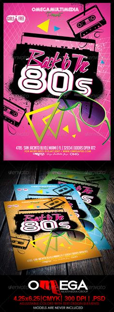 logo Back to the - Events Flyers 80s Party Decorations, 80s Logo, Indie, Back To The 80's, Flyer Design Inspiration, Event Flyers, Party Poster, Logo Color, Party Flyer