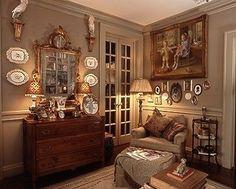 Allen Smith's Garden Home. Visit for more photos, recipes, and tips. Decor, Interior Design, Cottage Interiors, Home, Interior, English Cottage Decor, Family Room, English Decor, Home Decor