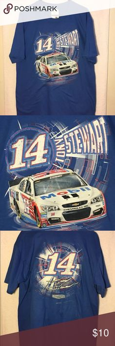 """NASCAR Tony Stewart L T-shirt Mobil 14 Chevy SS New with tags Stewart Haas branded NASCAR t shirt in men's size large. Measurements Armpit to armpit 21"""" Length 30"""" Shirts Tees - Short Sleeve"""