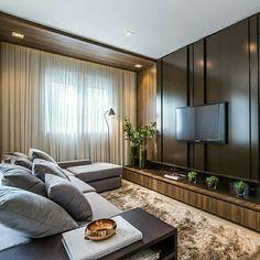 Inspiração ♡ #interiores #design #interiordesign #decor #decoração #decorlovers #archilovers #inspiration #ideias #sala #living #saladetv #hometheater