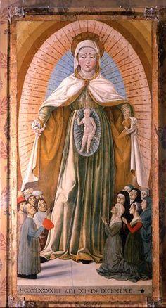 Anonimo pittore della fine del Quattrocento - Madonna della Misericordia - Quadreria della Rocca di Gradara (Pesaro-Urbino, Marche, Italia)