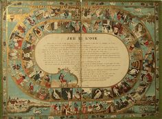 Jeu de l'Oie - Game of the Goose - Gioco dell'Oca1915ca Percorso di 63 caselle numerate Revenaz et Tabernat Francia XX secolo (1°/4)