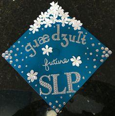 Graduate grad cap in IPA for speech language pathologist