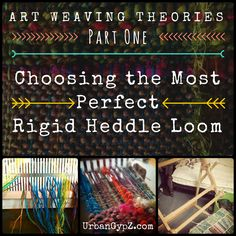 Part one in a series of how to make art weavings on a ridge heddle loom. How to pick a loom best suited for your personal creative style.