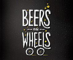 BeersOnWheels Typogrpahy design by Cymetriq Studio