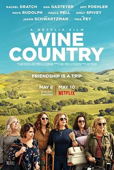 The movie poster for Wine Country. Read our review at: cottagemixtape.com Movies 2019, Hd Movies, Movies To Watch, Movies Online, Movies And Tv Shows, Netflix Movies, Cinema Movies, Film Movie, Amy Poehler