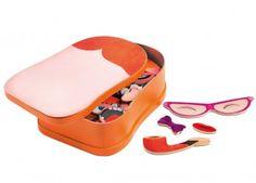 vrolijke magneetspel InZeBox Portraito DJECO | kinderen-shop Kleine Zebra