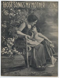 """Happy Mother's Day! """"Those Songs My Mother Used To Sing"""" sheet music: http://bit.ly/1Qr8VUm  #mothersday #sheetmusic #vintagesheetmusic"""