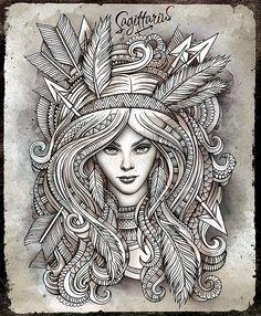 Sagittarius- Archer tattoo #tattoo #sagittarius #Archer #arrows