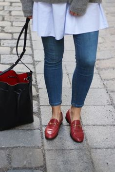 Search results for Gucci Jordaan Loafer::allCategories:Womens on Matches Fashion Site US Outfit Loafers, Red Loafers, Gucci Loafers, Gucci Shoes, Oxfords, Women's Shoes, Casual Chic Outfits, Classic Outfits, Fall Outfits