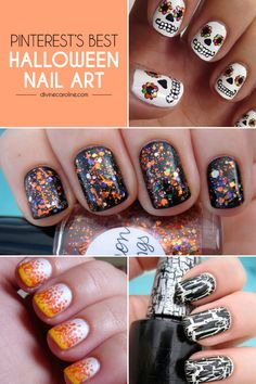 Halloween spooky and charming nail art design ideas Halloween nails Try them if you dare halloweennails naildesign Fete Halloween, Halloween Nail Designs, Halloween Nail Art, Cool Nail Designs, Spooky Halloween, Halloween Ideas, Happy Halloween, Love Nails, How To Do Nails
