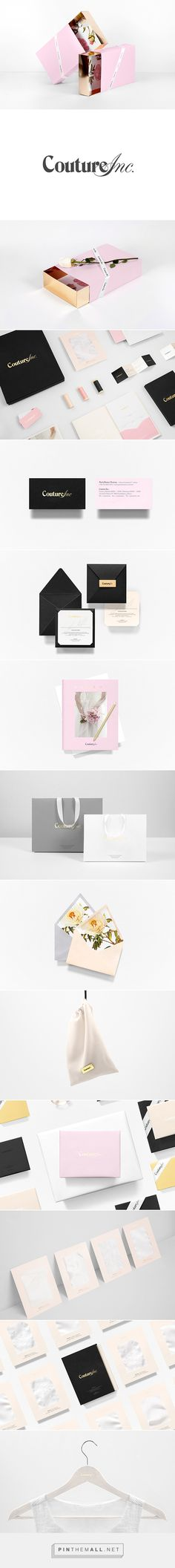 Couture Inc. on Behance by Anagrama curated by Packaging Diva PD. Branding work…