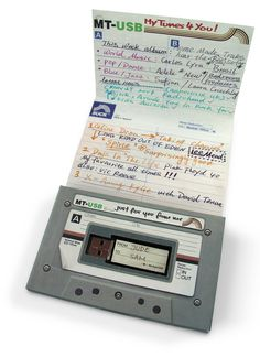 Mix Tape USB , Not sure where to put this but is's a great idea.