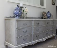 Lilyfield Life: French Châteaux Chest of Drawers in Annie Sloan Chalk Paint Paris Grey